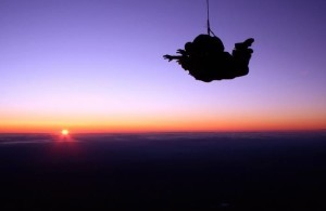 Sunset Skydiving on the East Coast