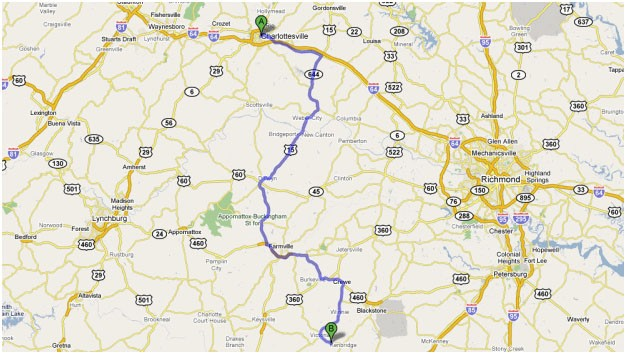 Directions to No Limits Skydiving in Virginia