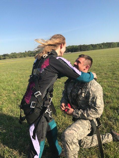 Skydive Wedding Proposal